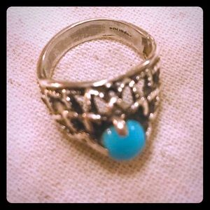 Authentic Sterling Silver + Turquoise Ring